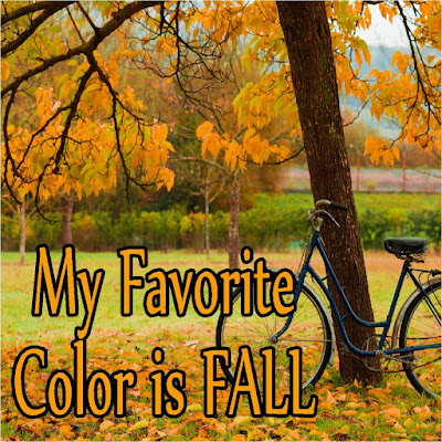 Decorate your fall scrapbook pages with this free Favorite Color card printable.  Cards are available in vertical and horizontal printables.