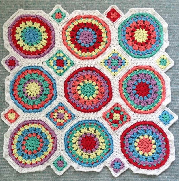 Granny Octagon And Square Motifs,  Colorful