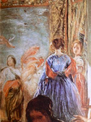 Detalle con las Bellas Artes en Las Hilanderas