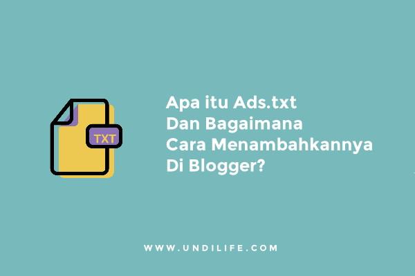 Ads.txt adsense blogger