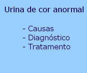 Urina de cor anormal causas sintomas diagnóstico tratamento