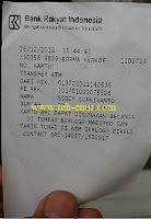 Struk / Print Out ATM BRI