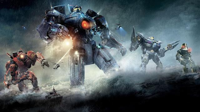 Los 4 Jaegers protagonistas, con Gipsy Danger al frente