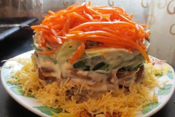 рецепты домашних салатов с курицей