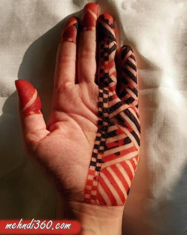 Half Hand Mehndi Design Front Hand