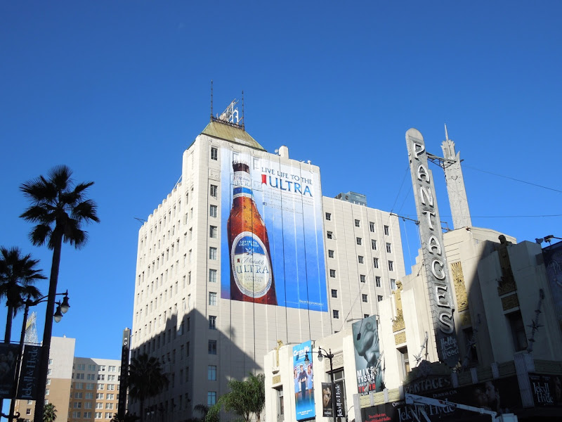 Giant Michelob Ultra beer billboard Hollywood