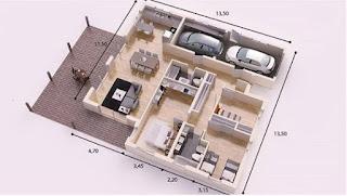 Sketsa Gambar Denah Rumah Modern