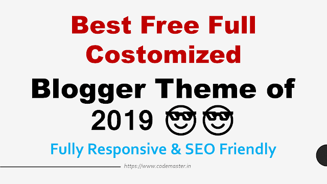 Best Free Blogger Template in 2019 in Hindi