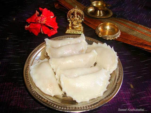images of Sweet Kozhukattai / Poorna kozhukattai / Purnam Kozhukattai / Sweet Kolukattai - Ganesh Chathurthi recipes / Vinayaka Chathurthi Recipes