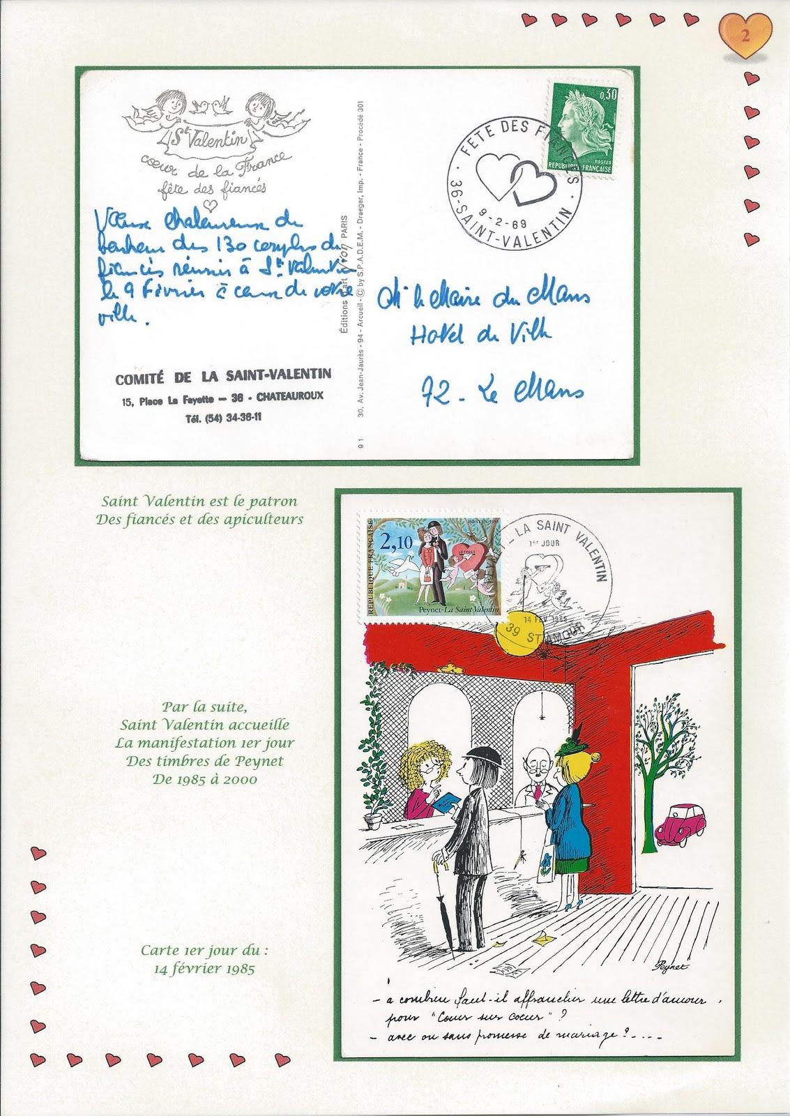 Collectionneur de timbres et de cartes postales: La Saint Valentin