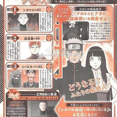 """""""Naruto Shippuden"""" (—ナルト—) adaptará el arco de la boda de Naruto y Hinata."""