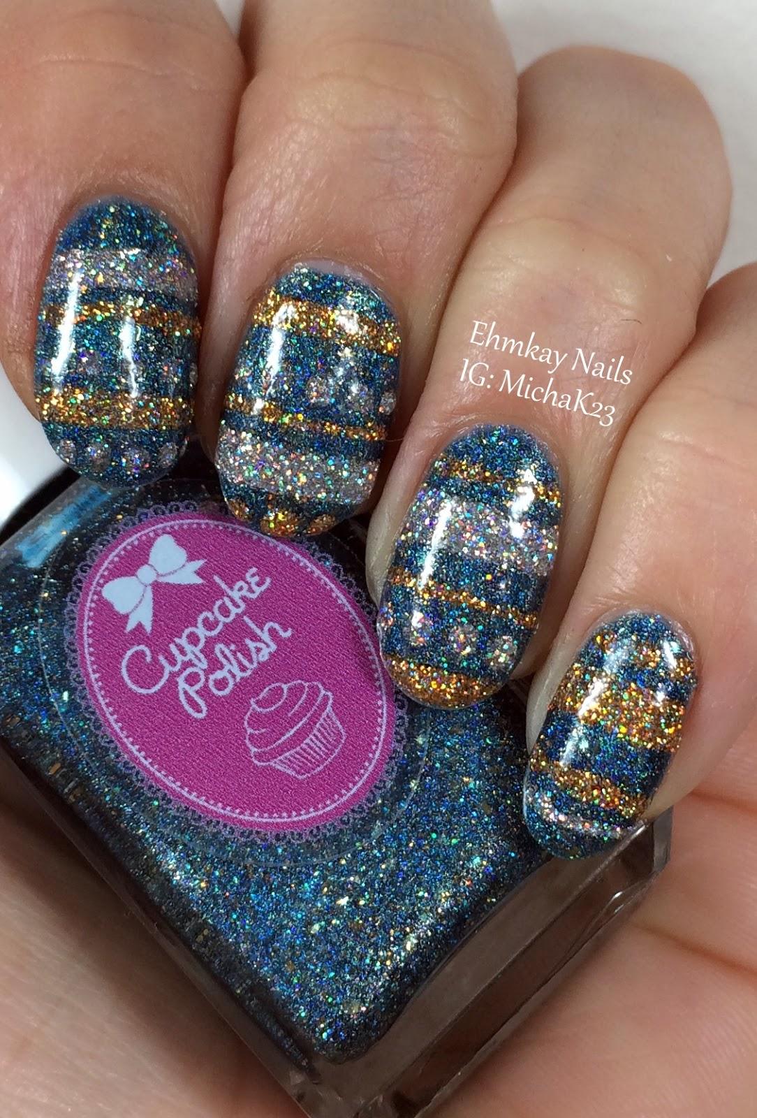 Ehmkay Nails New Year S Eve Nail Art With Kbshimmer Bling: Ehmkay Nails: Chanukah Nail Art: Chanukah Ornaments