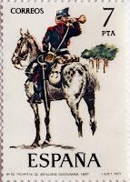 TROMPETA DE ARTILLERIA DIVISIONARIA 1887
