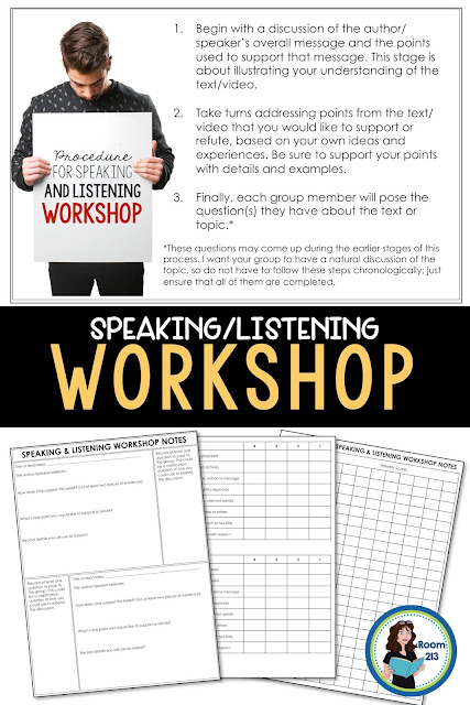 Speaking and listening activities for middle and high school English classes. Perfect for teaching public speaking skills.
