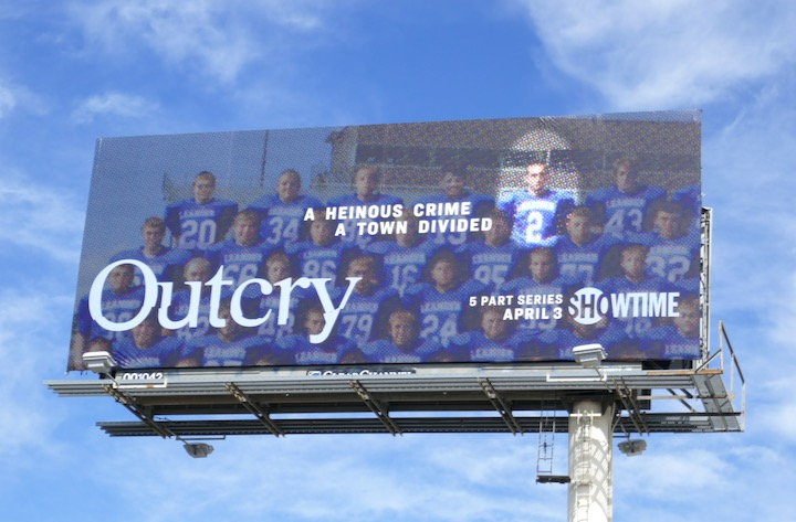 Outcry series premiere billboard