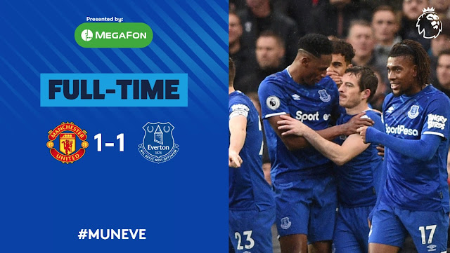 Mason Greenwood second half goal help Man United get a point for a strong Everton side who went ahead after Lindelof conceded an own goal from an error.