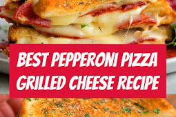 Pepperoni Pizza Grilled Cheese Recipe #dinner #dinnerideas #mozzarella #pizza #sandwich