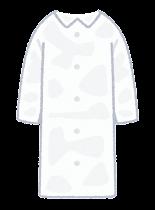 個人防護具のイラスト(女性・レインコート)