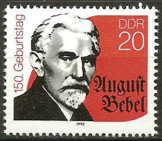 DDR GDR 1990 MNH 150th Birth Anniv Politician August Bebel