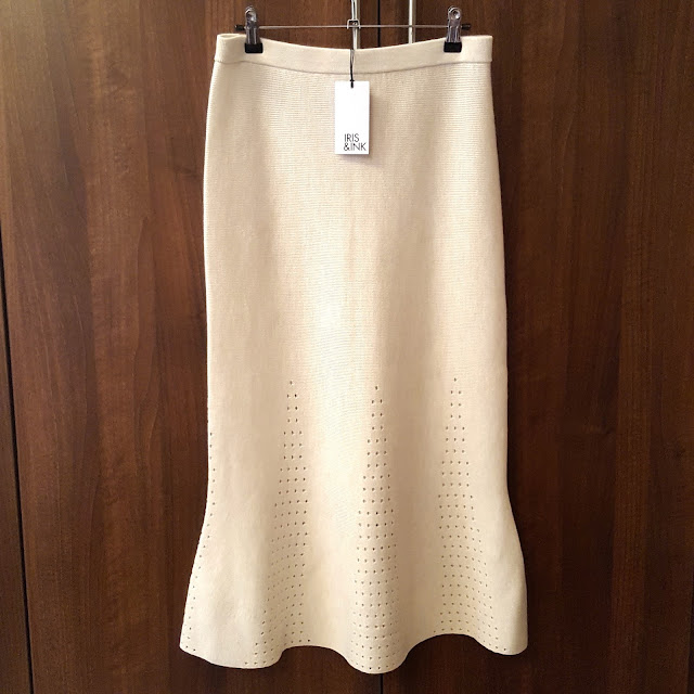 winter white wool skirt