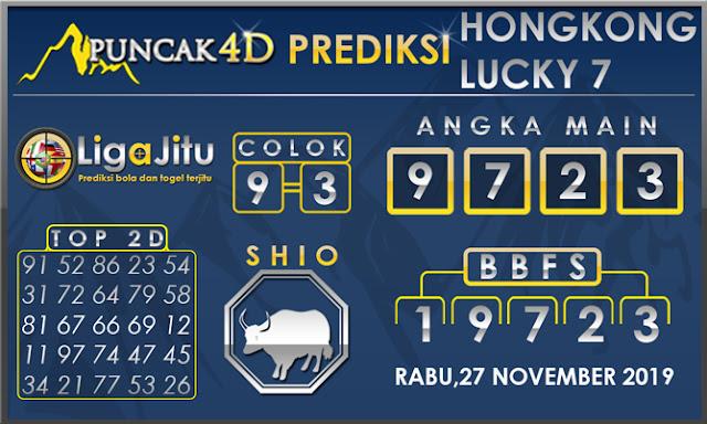 PREDIKSI TOGEL HONGKONG LUCKY7 PUNCAK4D 27 NOVEMBER 2019