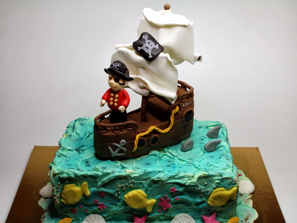 London Patisserie Pirate Ship Birthday Cake London Cakes