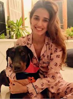 Disha Patani With Dog