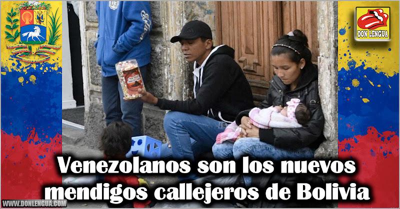 Venezolanos son los nuevos mendigos callejeros de Bolivia