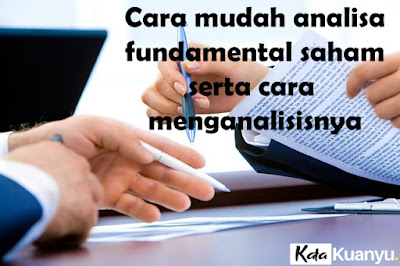 Cara analisa fundamental saham