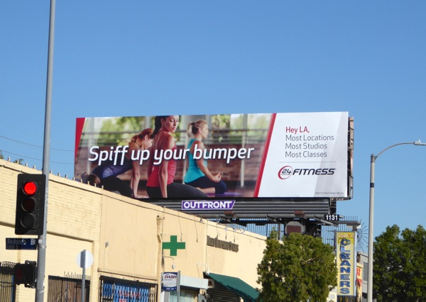 Spiff up your bumper 24 Fitness gym billboard