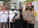 Kapolda Banten Dampingi Kunjungan Kompolnas Tinjau Pos Penyekatan dan Pos Pengamanan di PT. ASDP Merak