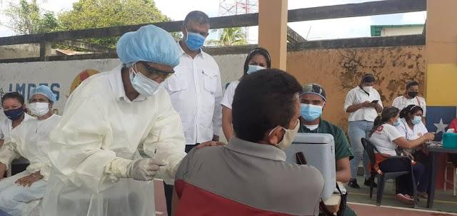 Jornada de vacunación masiva contra la covid-19 inició en El Socorro