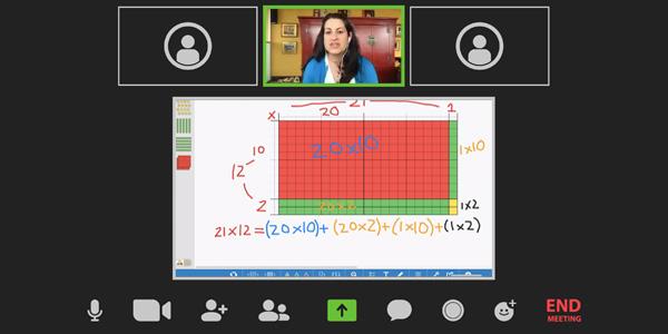 Dr. Melissa Soto leads a virtual professional development session for elementary school teachers.