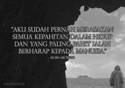 Kata kata bijak islami singkat Ali bin Abi Thalib