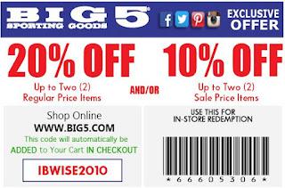 big 5 sporting goods coupons