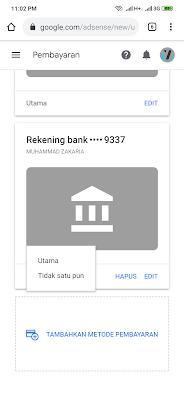 rekening bank dari OVO untuk google adsense