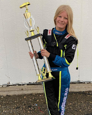 Female Driver Delivers Wins / Mariah Boudrieau