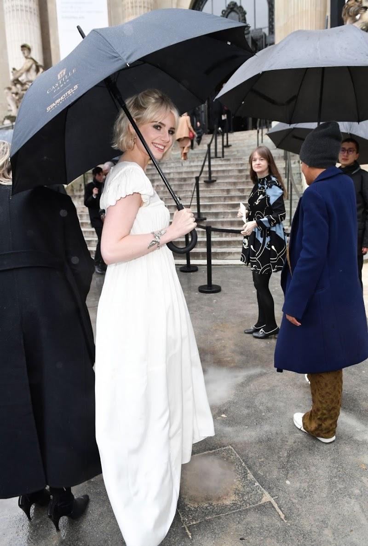 Lucy Boynton Arrives at Chloe Fashion Show at PFW in Paris 27 Feb-2020