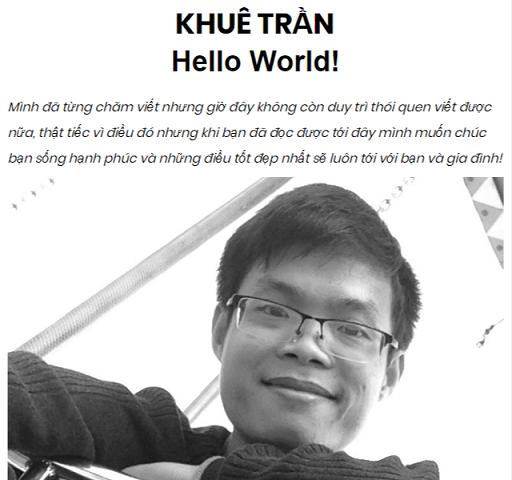 Blog Khuê Trần bị sập