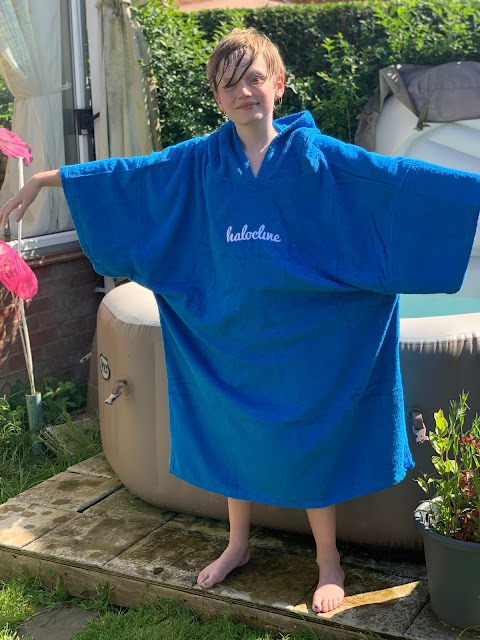 large poncho style towelling robe