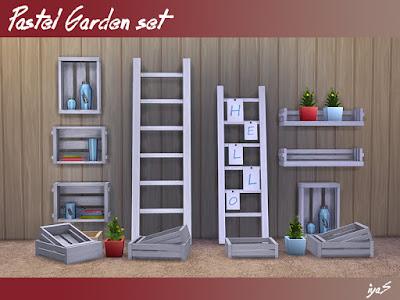 Пастельный садовый набор для The Sims 4 Этот деревенский набор - идеальное дополнение к любому саду или оранжерее. В набор входит 8 предметов, каждый предмет имеет 3 цветовых вариации. Автор: soloriya