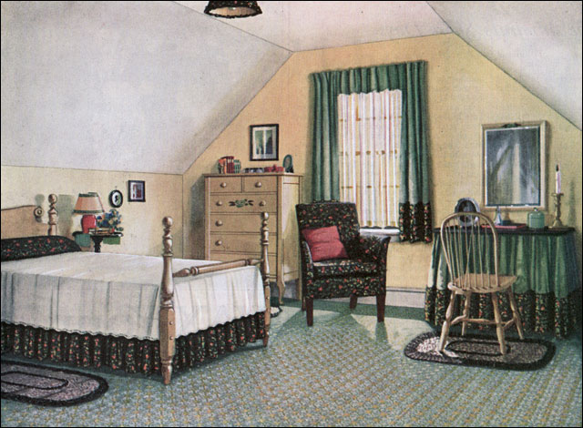 Apron History: More 1920 Decorating Ideas-Bedrooms