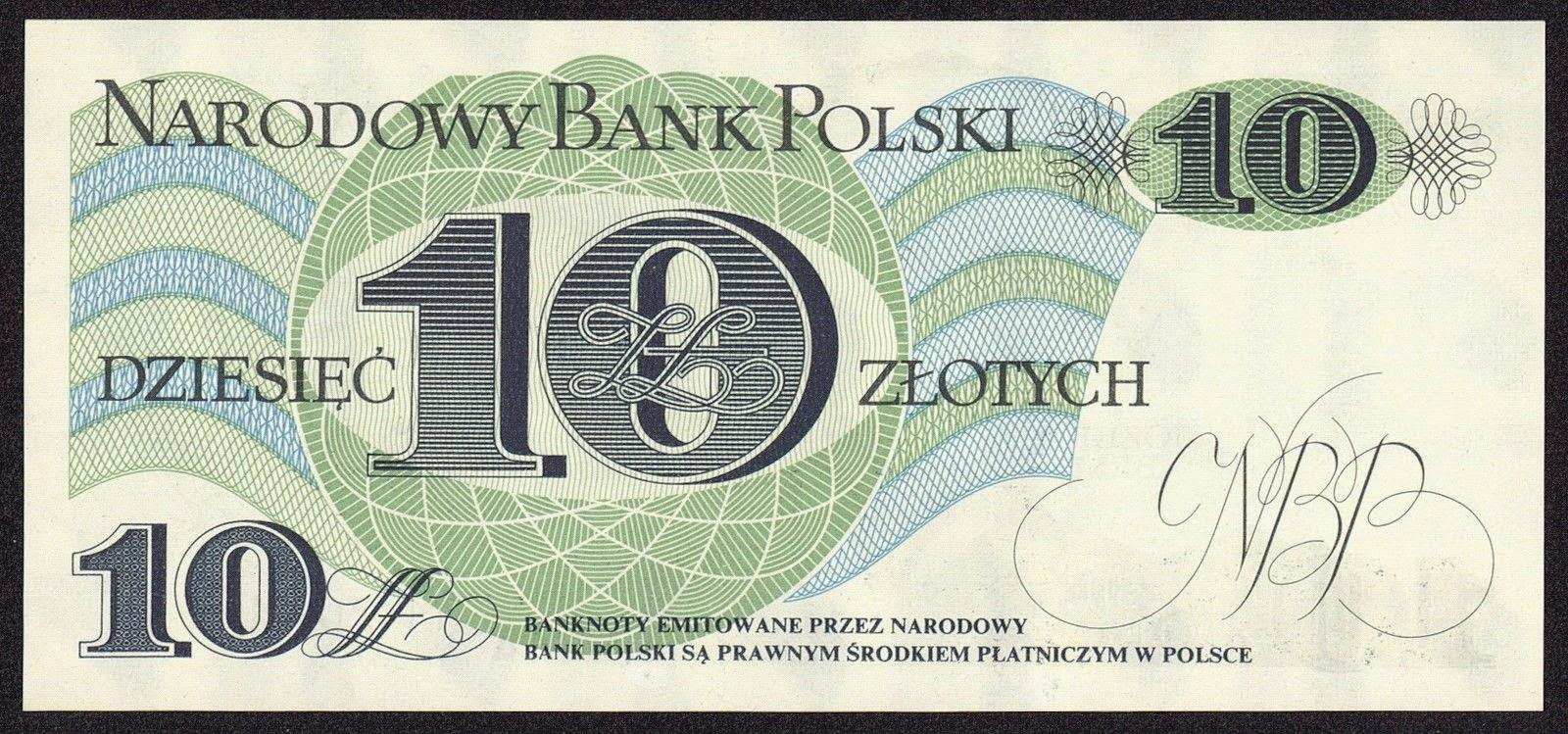 10 Zloty banknote 1982