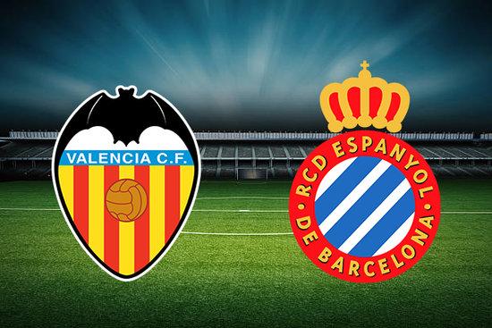 Biểu tượng của hai đội tuyển Valencia và Espanyol
