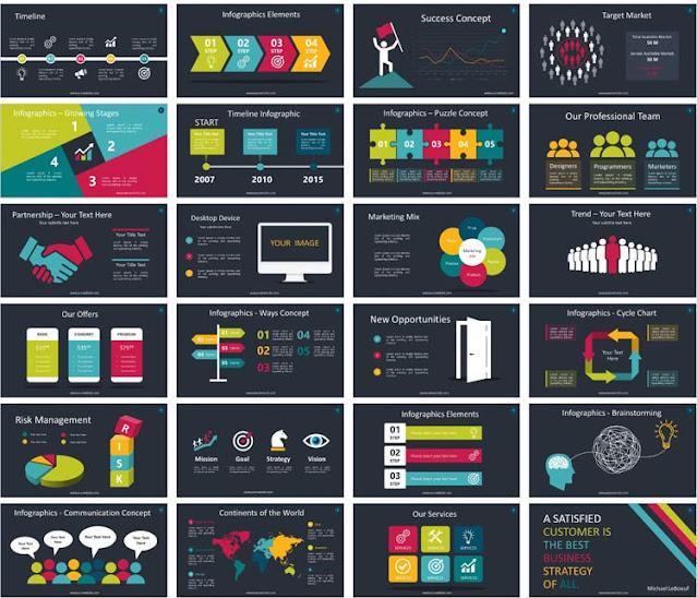 انفوجرافيك فارغ للكتابة تصميم ppt doc psd مواقع نماذج عربي