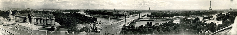 Photo panoramique de Paris prise par Eugene O. Goldbeck en 1927