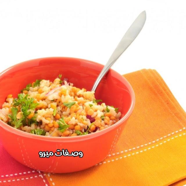 أرز بالعدس الأصفر للنباتيين
