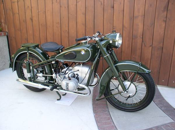 For Sale A Rare 1951 BMW R51 3 With 500 Cc Opposed Twin Engine This Motorcycle Went Through Ground Up Restoration In The Spring Of 2013