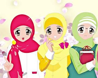 kartun muslimah bergerak