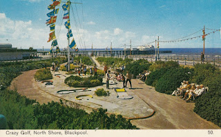 Crazy Golf, North Shore, Blackpool. 50. Bamforth Post Card. Unposted. Undated